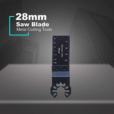 Lama per sega multiutensile oscillante a cambio rapido per elettroutensile per il taglio di metalli nero T1