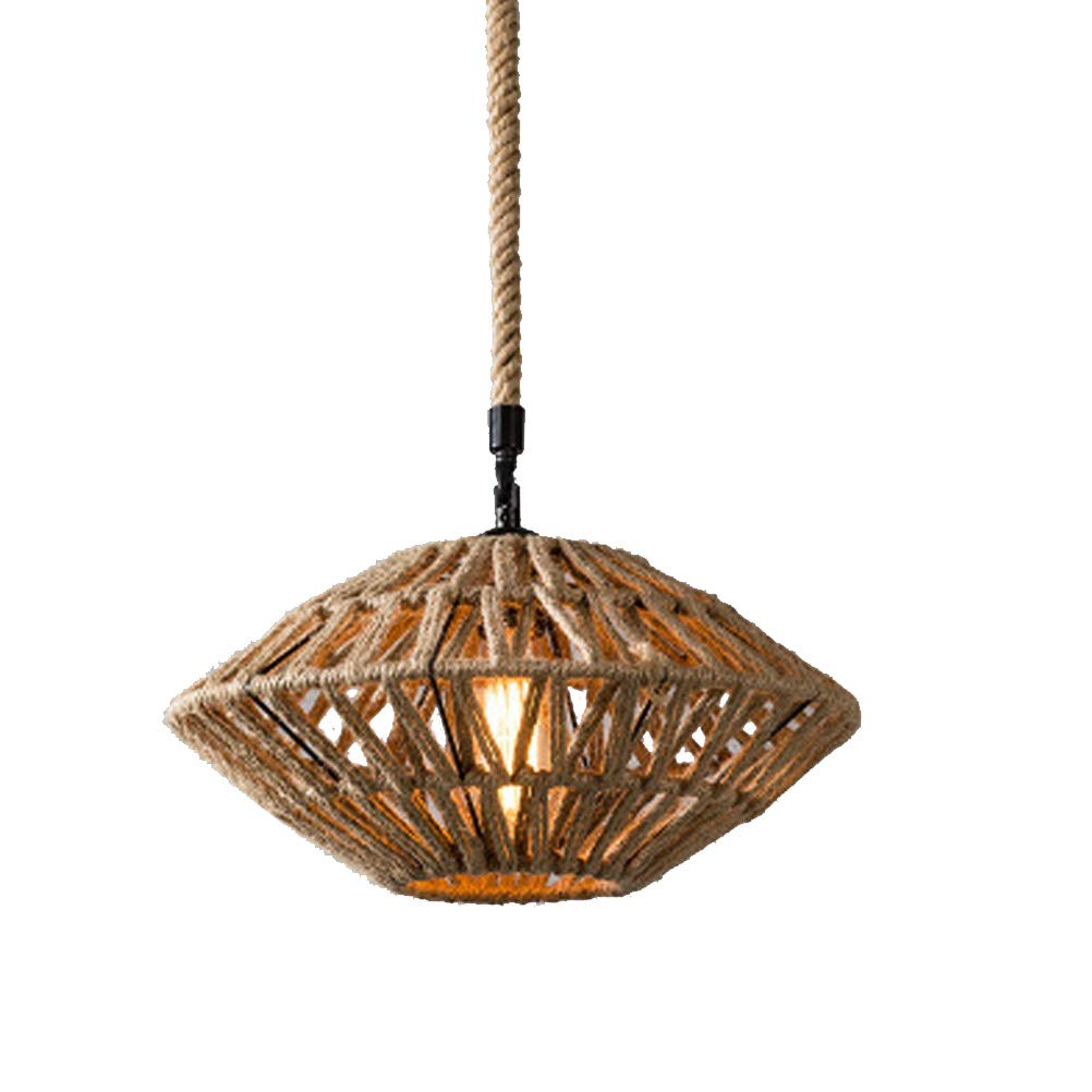 B Home Decoration Chandelier, Single Head Hanf Rope Interior Lighting Chandelier, Shop Ceiling Chandelier,B