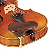 SAS Walnut Chinrest for 3/4-4/4 Violin or Viola with 35mm Plate Height and Goldplated Bracket