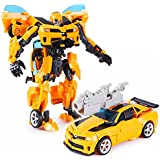 Kiditos Transformers Bumblebee Robot To Car Converting Action Figure Toy - Yellow