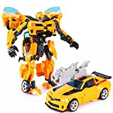 Kiditos Transformers Bumblebee Robot To Car Converting Action Figure Toy