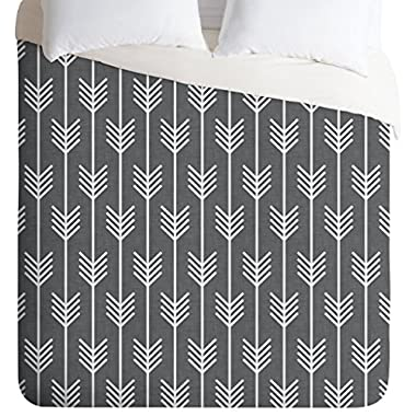 Holli Zollinger Arrows Grey Duvet Cover, King