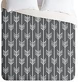Deny Designs Holli Zollinger Arrows Grey Duvet Cover, King