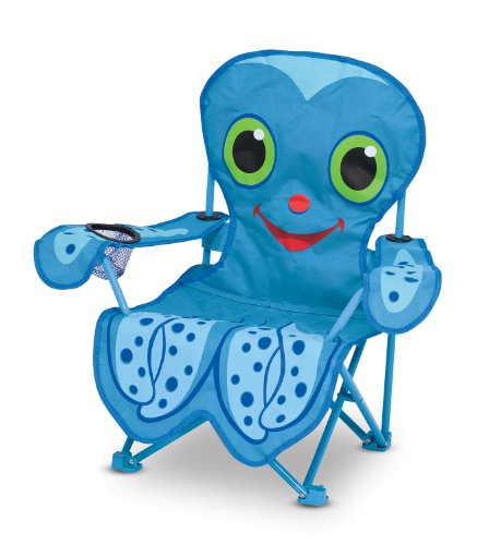 Melissa & Doug Sunny Patch Flex Octopus Folding Beach Chair for Kids