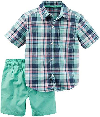 (Carter's Boys' 2 Pc Playwear Sets 249g396, Plaid, 4T)