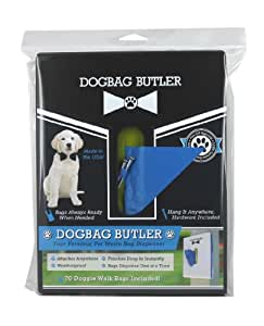 dogbag BUTLER Pet Dog Waste Bag, Black with Blue