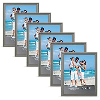 Icona Bay Picture Frames Bulk Set (6 Pack), Wall Mount Hangers and Table Top Easel Included, Display Horizontally or Vertically, Inspiration Collection