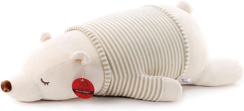 Niuniu Daddy 30 inch Super Soft Plush Polar Bear Stuffed Animal Toy Plush Soft Hugging Animal Pillow