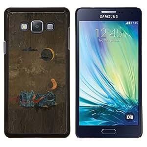 LECELL--Funda protectora / Cubierta / Piel For Samsung Galaxy A7 A7000 -- Pintura abstracta --