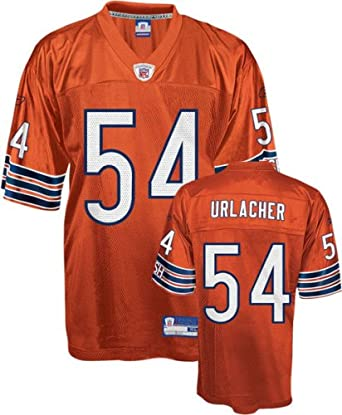 the latest 6278c 9069e Amazon.com: Brian Urlacher Jersey: Reebok Orange Replica #54 ...