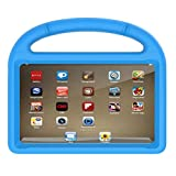 DDLBiz Kids EVA Safe Rubber Stand Handle Case For Kindle Fire HD 8 2017 7th (Blue)