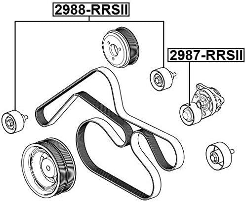 Pulley Idler Febest 2988-RRSII Oem PQH500080