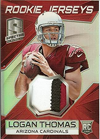 2014 Spectra Rookie Jerseys Patches Red Prizm  2 Logan Thomas RC Rookie MEM  2  886359f46
