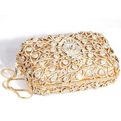 Women Crystal Evening Shape Bags Gold Silver Cylindrical Digabi Clutch xpfgEfw