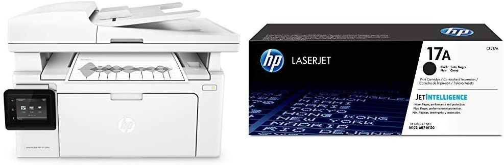 HP LaserJet Pro M130fw All-in-One Wireless Laser Printer (G3Q60A) with Standard Yield Black Toner Cartridge