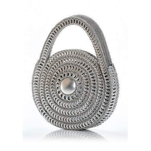 "Escama -""Spiral"" Crocheted Pull Tab Purse"