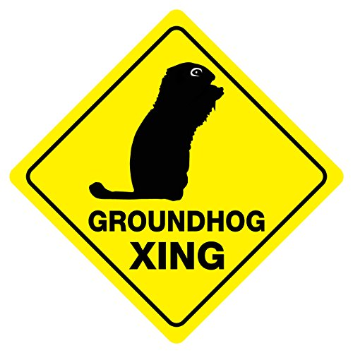 Cheap GROUNDHOG CROSSING Funny Novelty Sign free shipping