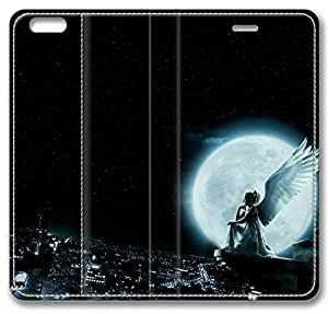 Angle Moon Leather Cover for iPhone 6 (4.7Inch) by Sallylotus