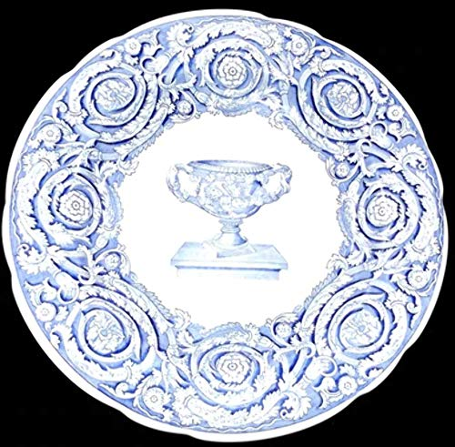 (Vintage Spode Blue Room Collection Warwick Vase Blue Transfer Ware Dinner Plate )