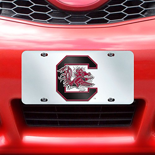 Carolina South Gamecock Logo University (FANMATS NCAA University of South Carolina Gamecocks Plastic License Plate (Inlaid))
