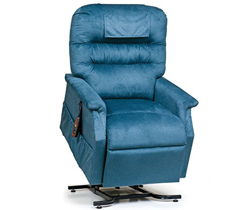 Golden Technologies Monarch PC-355M Medium Lift Chair 3-Position Recliner - PR355-MED Cornflower Blue Fabric - In-Home Delivery and Setup