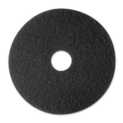 3M Stripper Floor Pad 7200, 12'', Black, 5 Pads/Carton