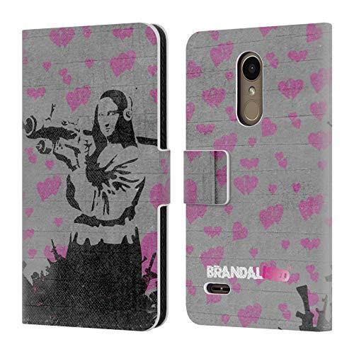 Official Brandalised Mona Launcher Banksy Art Street Vandals Leather Book Wallet Case Cover for LG K10 / K11 / K11 Plus (2018)