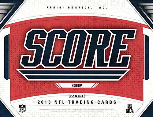 Jumbo Box - 2018 Panini Score Football Hobby Box (10 Packs/40 Cards: 4 Autographs)
