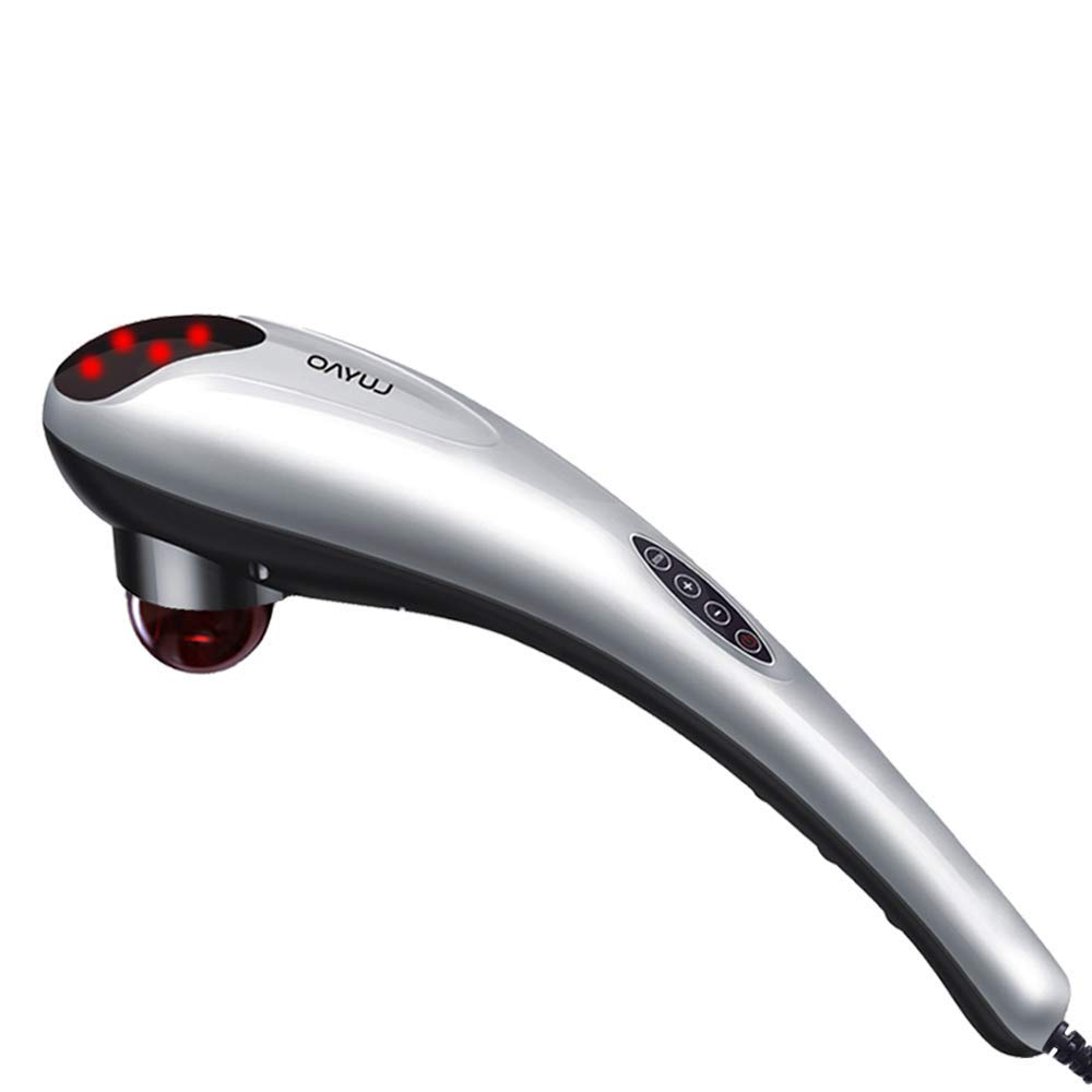 Handheld Deep Tissue Massager Percussion Massage Machine for Muscles Back Neck Shoulder Leg- Hand Held Electric Back Massager for Neck and Back Full Body Pain Relief and Relaxation