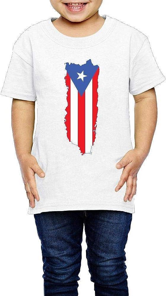 Puerto Rico Flag 2-6 Years Old Boys /& Girls Short Sleeve T Shirts
