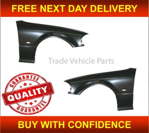 Trade Vehicle Parts BM2160 Front Wing Pair Left /& Right Not M3 Compatible With 3 E46 2 Door Coupe//Cab 1998-2003