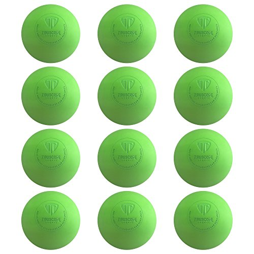Truscope Sports Official Lacrosse Balls - 12 Pack (Green)