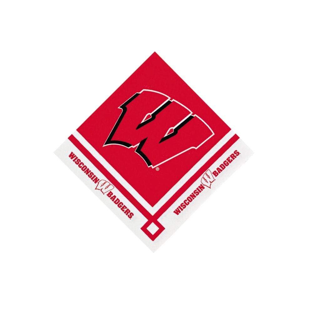 NCAA(TM) Wisconsin Beverage Napkins