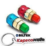 Biltek A/C R134a Quick Coupler Adapter Car High & Low Side HVAC SAE Male Flare Fitting + KapscoMoto Keychain