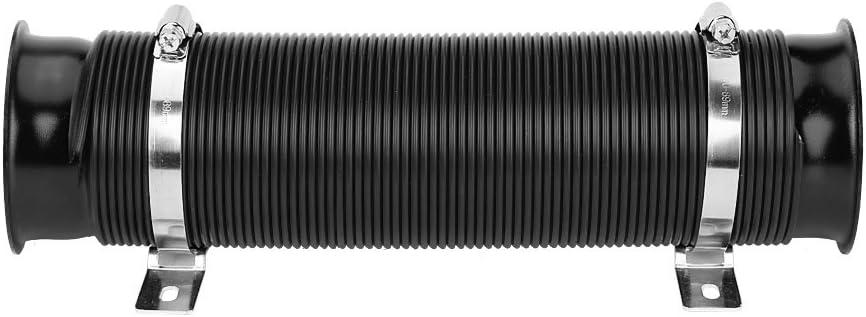 3 pulgadas juego de manguera 32,5 x 9 cm negro flexible Tubo de admisi/ón de aire de aluminio goma 76 mm universal