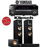 Yamaha AVENTAGE RX-A1070BL 7.2-Ch 4K Network AV Receiver + Klipsch RP-280F + Klipsch RP-450C + Klipsch R-112SW - 3.1-Ch Home Theater Package (Piano Black)