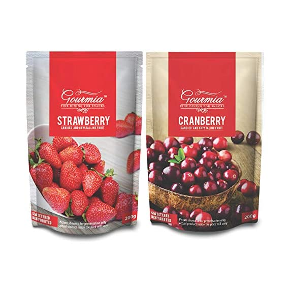 Gourmia Dried Strawberry and Cranberry Combo (200gm x 2)