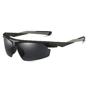 Ofgcfbvxd Ocio al Aire Libre Gafas de Sol Deportivas Semi-sin Montura para Hombres Polarizadas