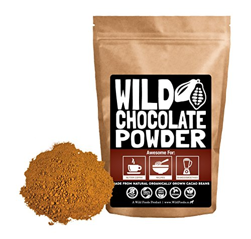 Organic Raw Cocoa Powder, Wild Dark Chocolate Powder, Handcrafted, Single-Origin, Fair Trade, Organically Grown Non-Alkalized Cacao from South American Cocoa beans (12 ounce)