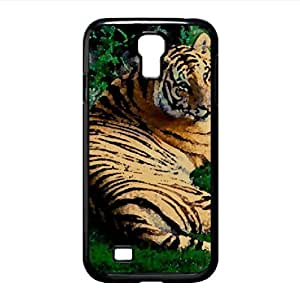 lintao diy Tiger Resting On Green Grass Watercolor style Cover Samsung Galaxy S4 I9500 Case (Wild Watercolor style Cover Samsung Galaxy S4 I9500 Case)