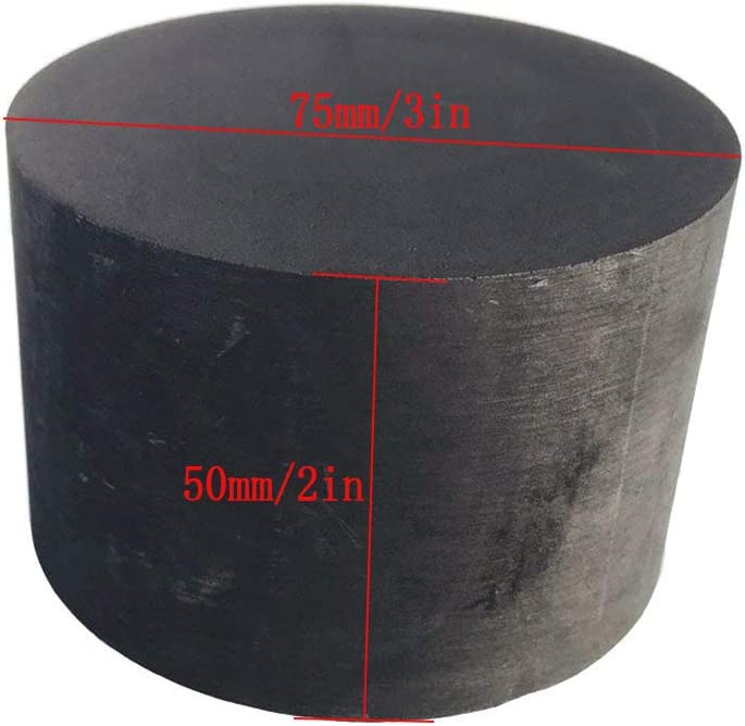 Dumadf Graphite Ingot Block 99.9/% High Purity Purity Graphite Ingot EDM Graphite Plate Milling Surface 75x50mm