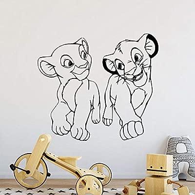 Pegatina De Pared Frases Dibujos Animados Rey León Nala Y