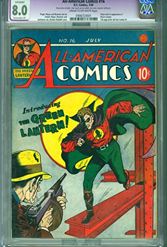 All American Comics 16 1st Green Lantern DC Golden Age CGC 8.0