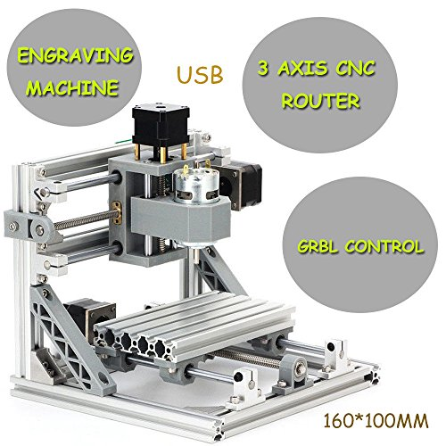 3Axis USB Laser CNC Router Engraver 1610 +500mw PCB PVC Milling Wood Router from TFCFL