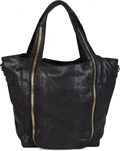 02012160 front bag the bag hobo bag styleBREAKER White on Black bag hand zip Color shoulder ladies application with q0zxRw6