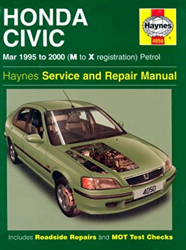 honda civic service and repair manual 1995 to 2000 haynes service rh amazon com