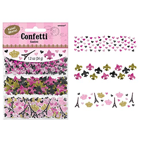 - Amscan 360235 Party Supplies Day In Paris Value Pack Confetti, One Size, Multi Color