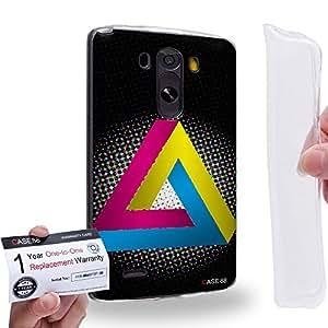 Case88 [LG G3] Gel TPU Carcasa/Funda & Tarjeta de garantía - Art Fashion CMYK Penrose Triangle Art1340