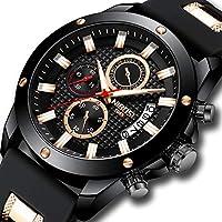 [Patrocinado] Nibosi - Reloj de pulsera para hombre, cronógrafo, cuarzo, moderno, casual, para hombre, color azul, calendario y fecha
