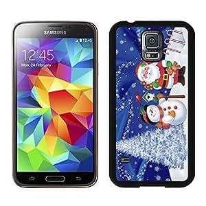 2014 Latest Christmas Snowman Black Samsung Galaxy S5 Case 21